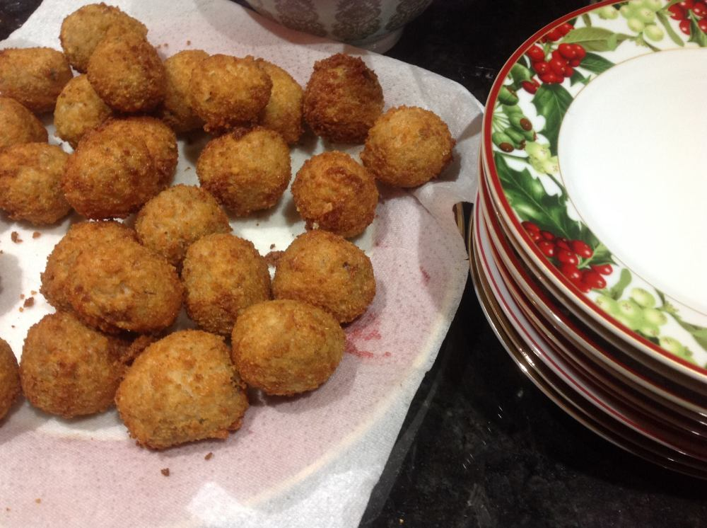 Turkey Croquettes. Dutch bitterballen