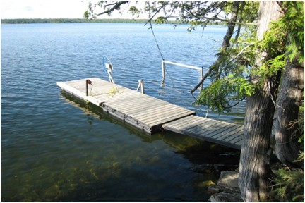 floating dock off second platform