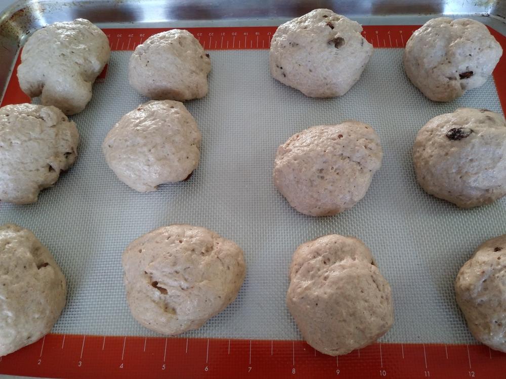 gluten free hot cross bun dough
