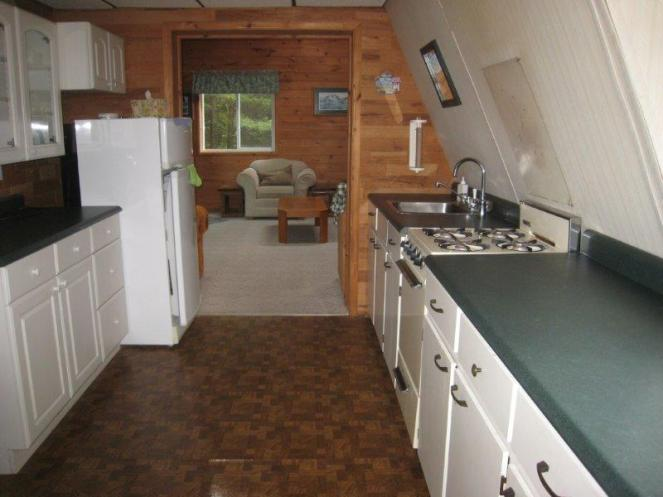 galley kitchen a-frame