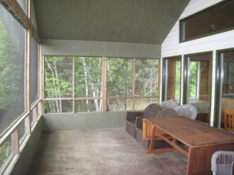 large screened in porch new cabin overlooking lake